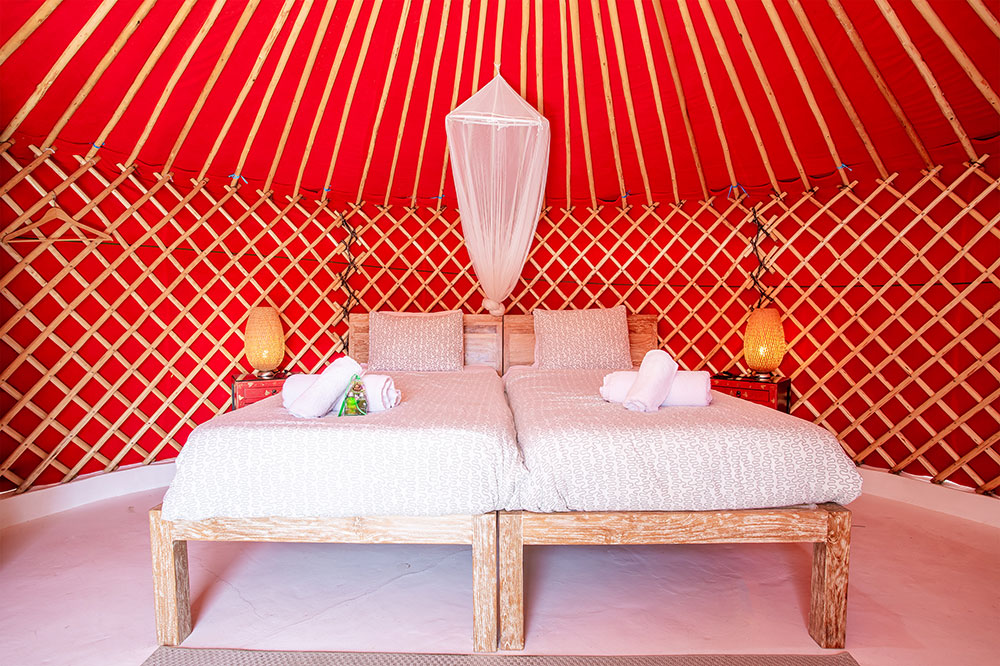 Eco Beach Yurt With Twin Beds