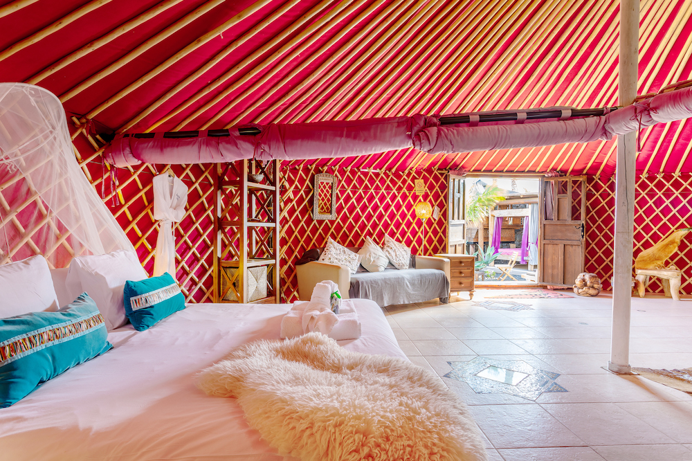 Eco Yurt Royale bedroom