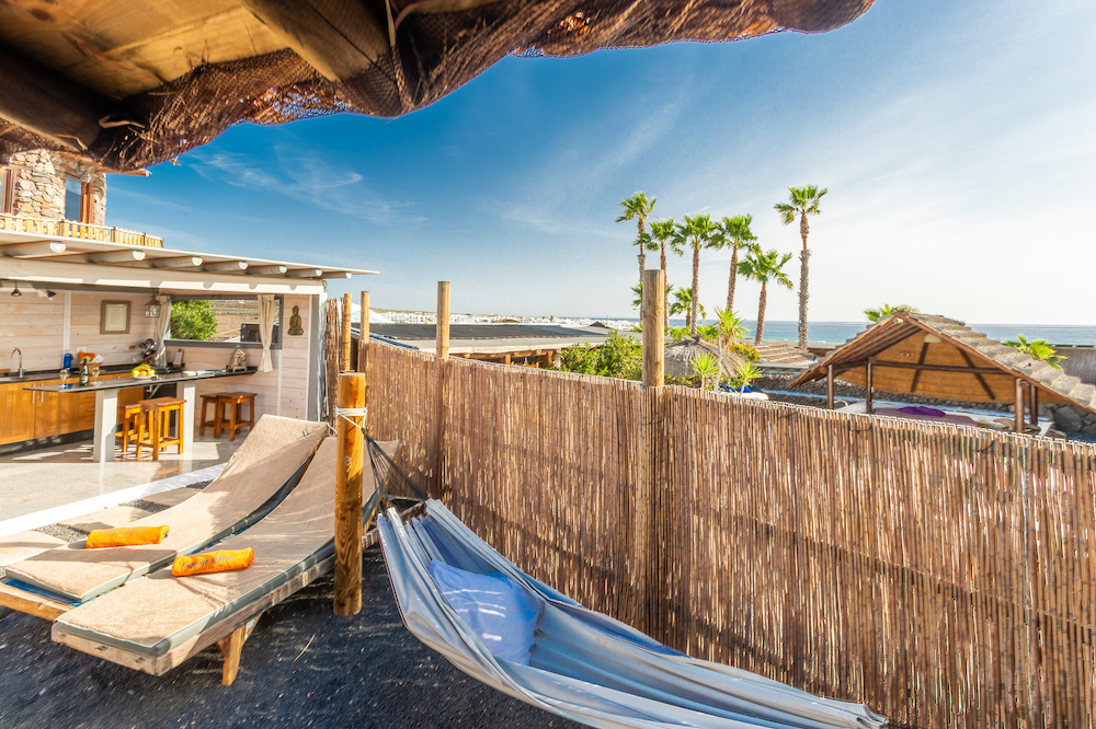 Eco Palm Yurt - Hammock and Ocean View