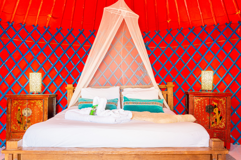 Eco Beach Yurt double bed pod