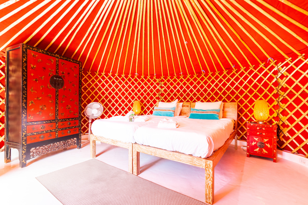 Eco Beach Yurt twin pod