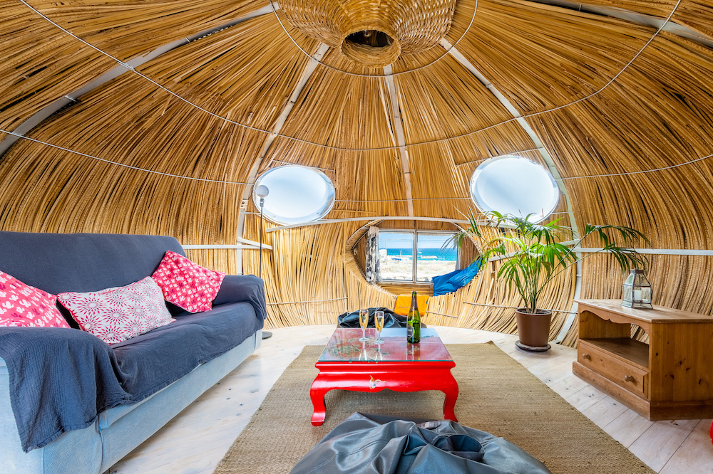 Eco Beach Yurt palm pod