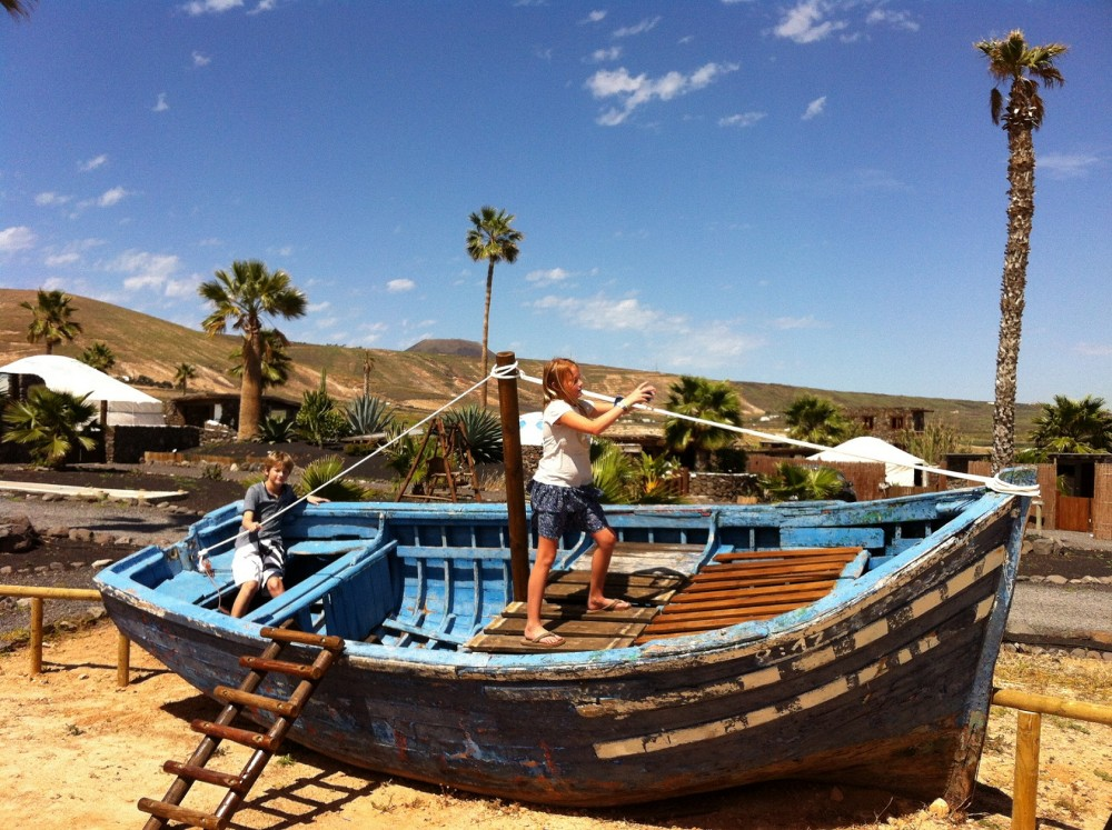 Boat kids playpark at Finca de Arrieta