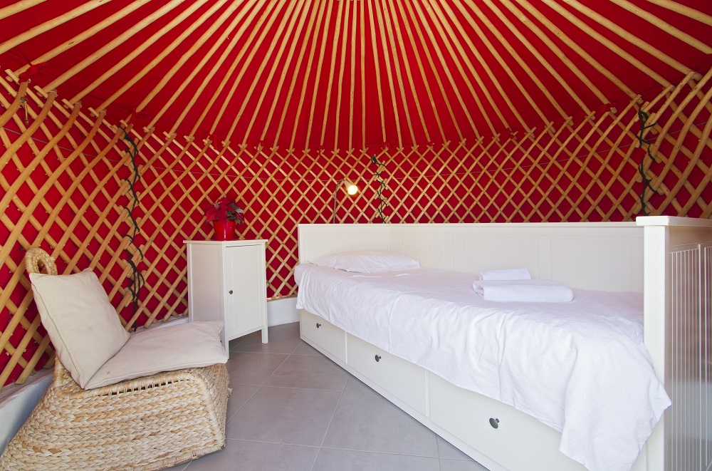 Eco Chiquitita small yurt interior