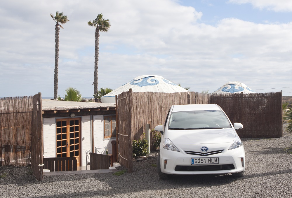 Eco Lodge with Toyota Hybrid car