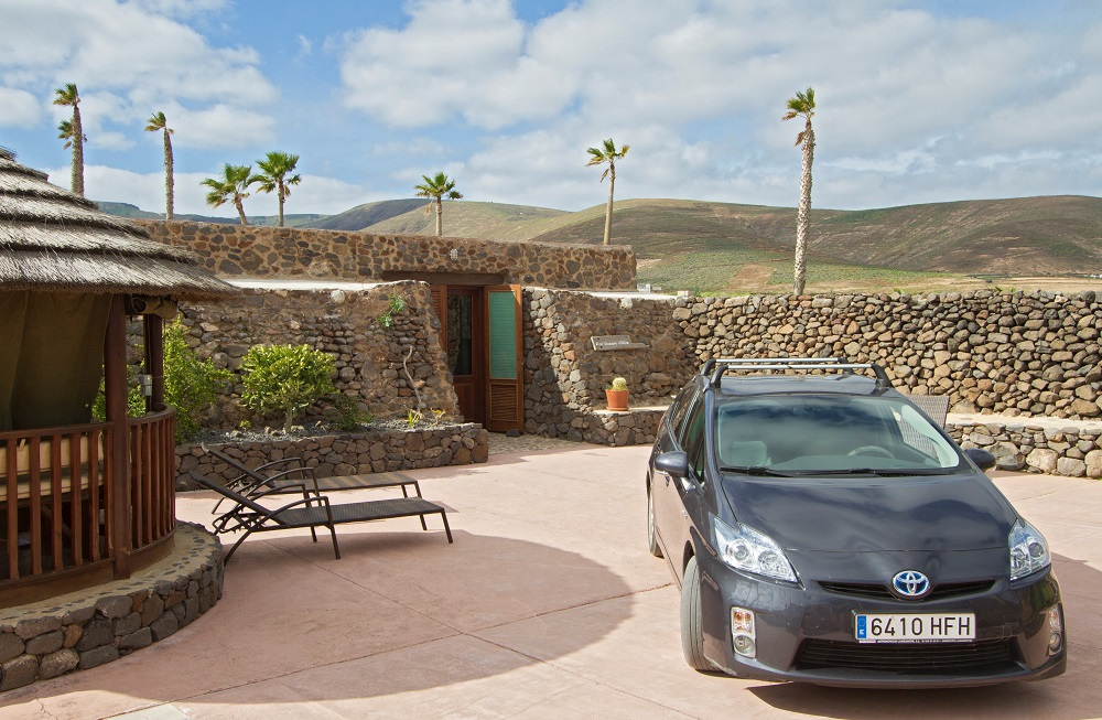 Eco Luxury Villa with Toyota hybrid car