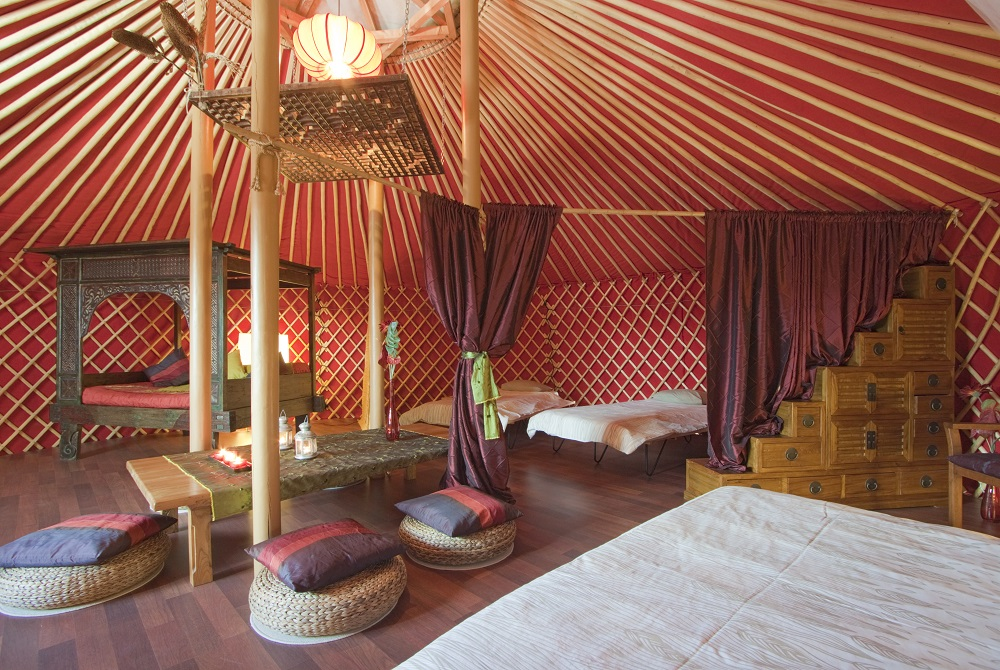 Eco Yurt Suite interior