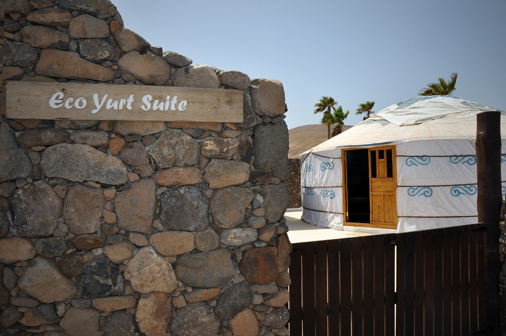 Eco Yurt Suite entrance