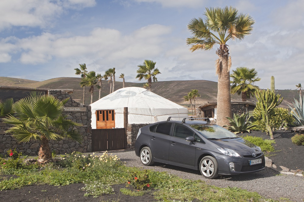 Eco Yurt Suite with Toyota hybrid car
