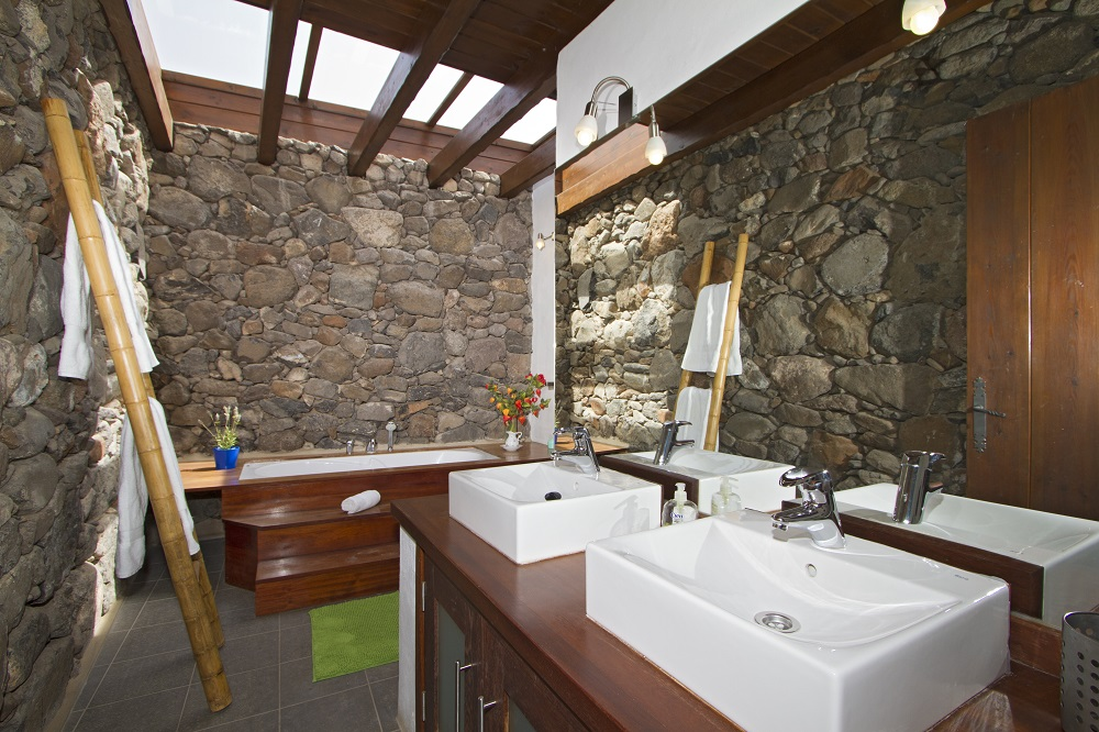 Eco Luxury Farmhouse bathroom