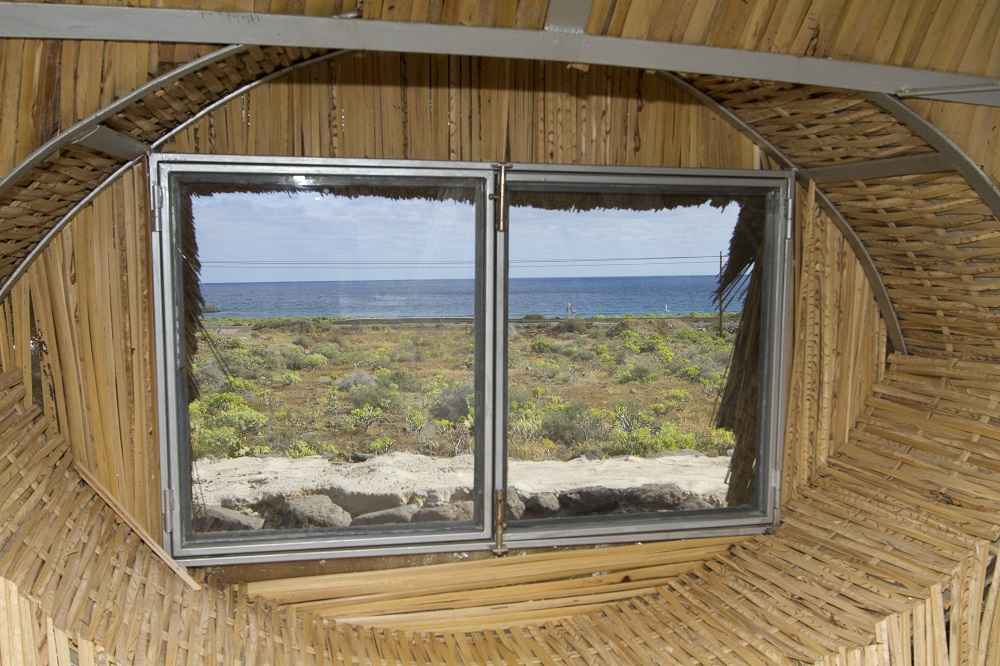 View to sea Eco Beach Yurt