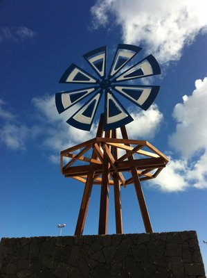 Windmill in Punta Mujeres village