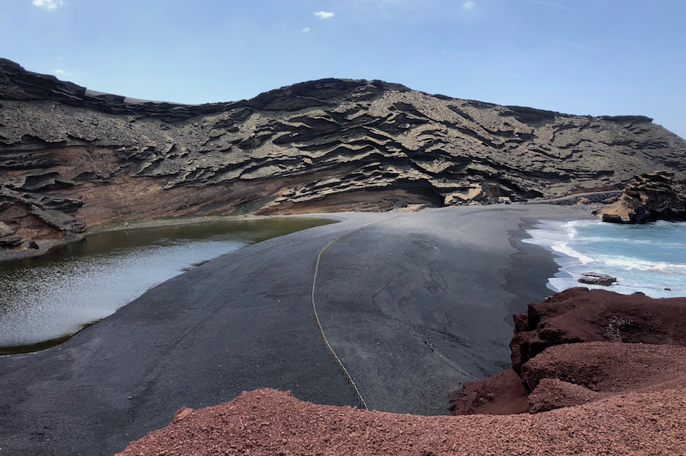 El Golfo Green volcanic lake