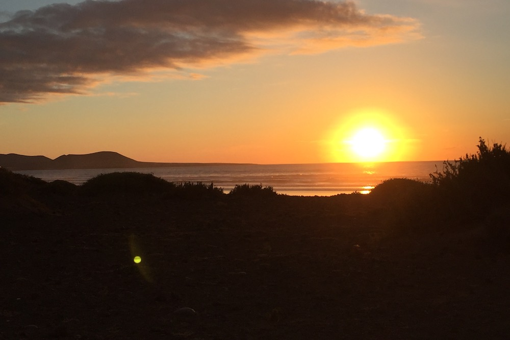 Beautiful sunsets in Famara - 20min drive from your Yurt