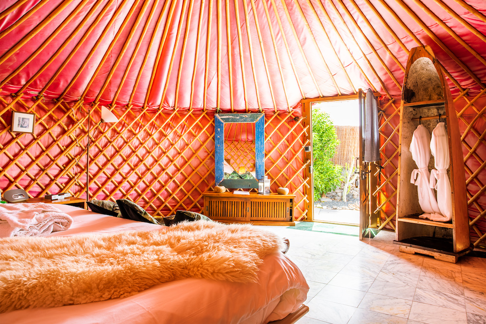 Inside Yurt Bedroom