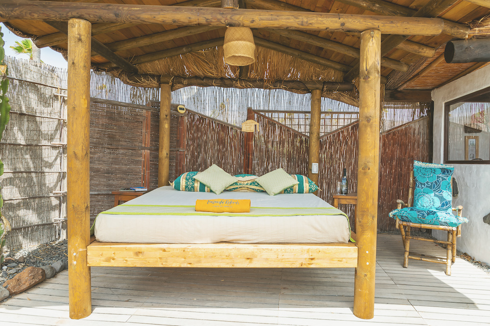 Eco Yurt Shaded Daybed