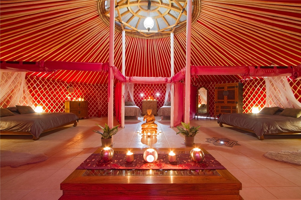 Inside of Yurt Royale