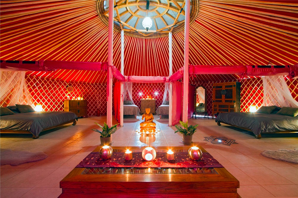 Eco Yurt Royale Inside View