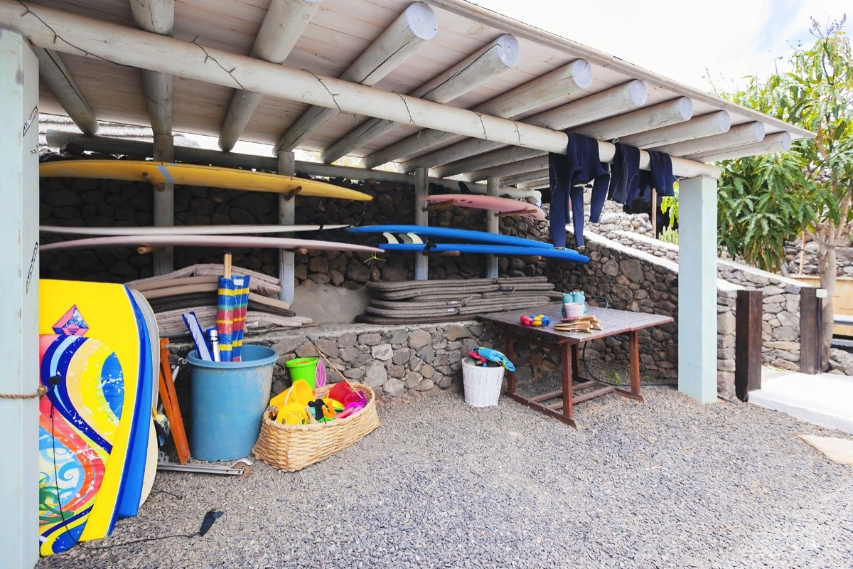 Finca de Arrieta surf storage room