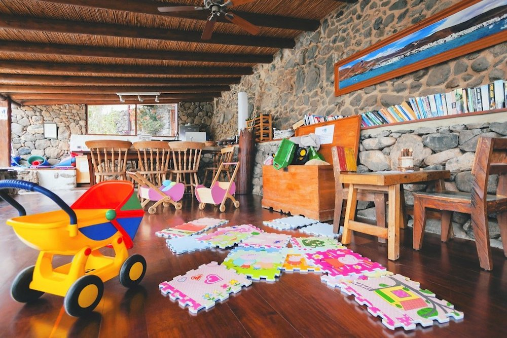 Toy box at Finca de Arrieta