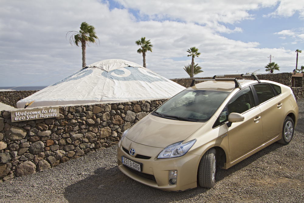 Eco Yurt Royale included hybrid Prius