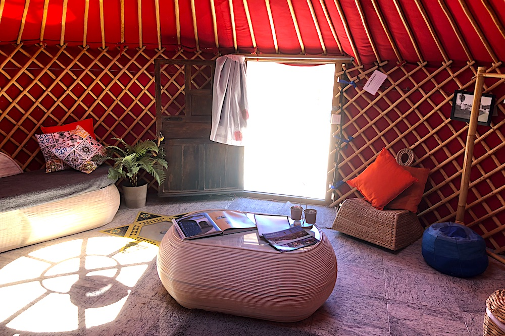 Eco Twin Yurt entrance