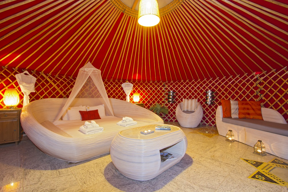 Eco Twin Yurt large yurt with super-king size double bed