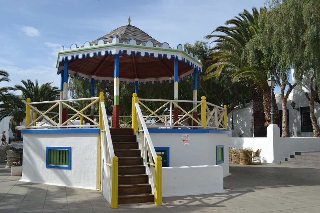 colourful gazebo Lanzarote