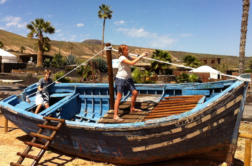 Pirate Boat at Play Park at Finca De Arrieta