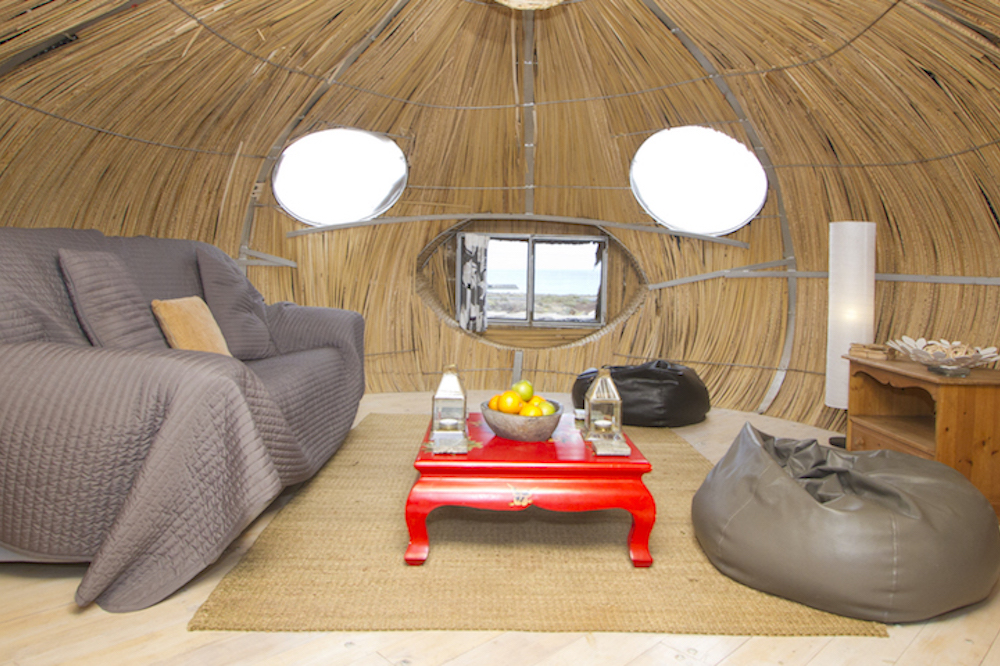 Eco Beach Yurt pod shared lounge