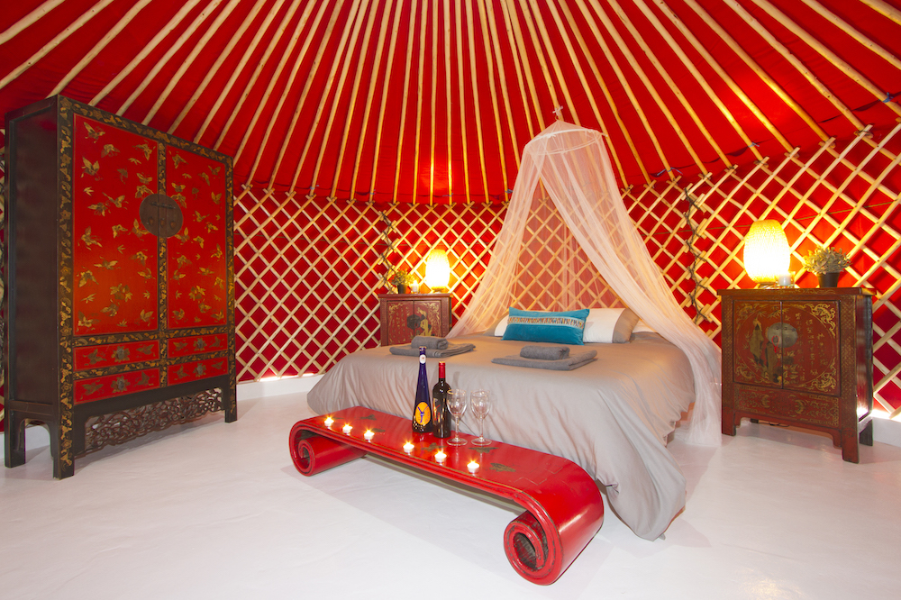 Pod 2 Eco Beach Yurt. can be double or single beds
