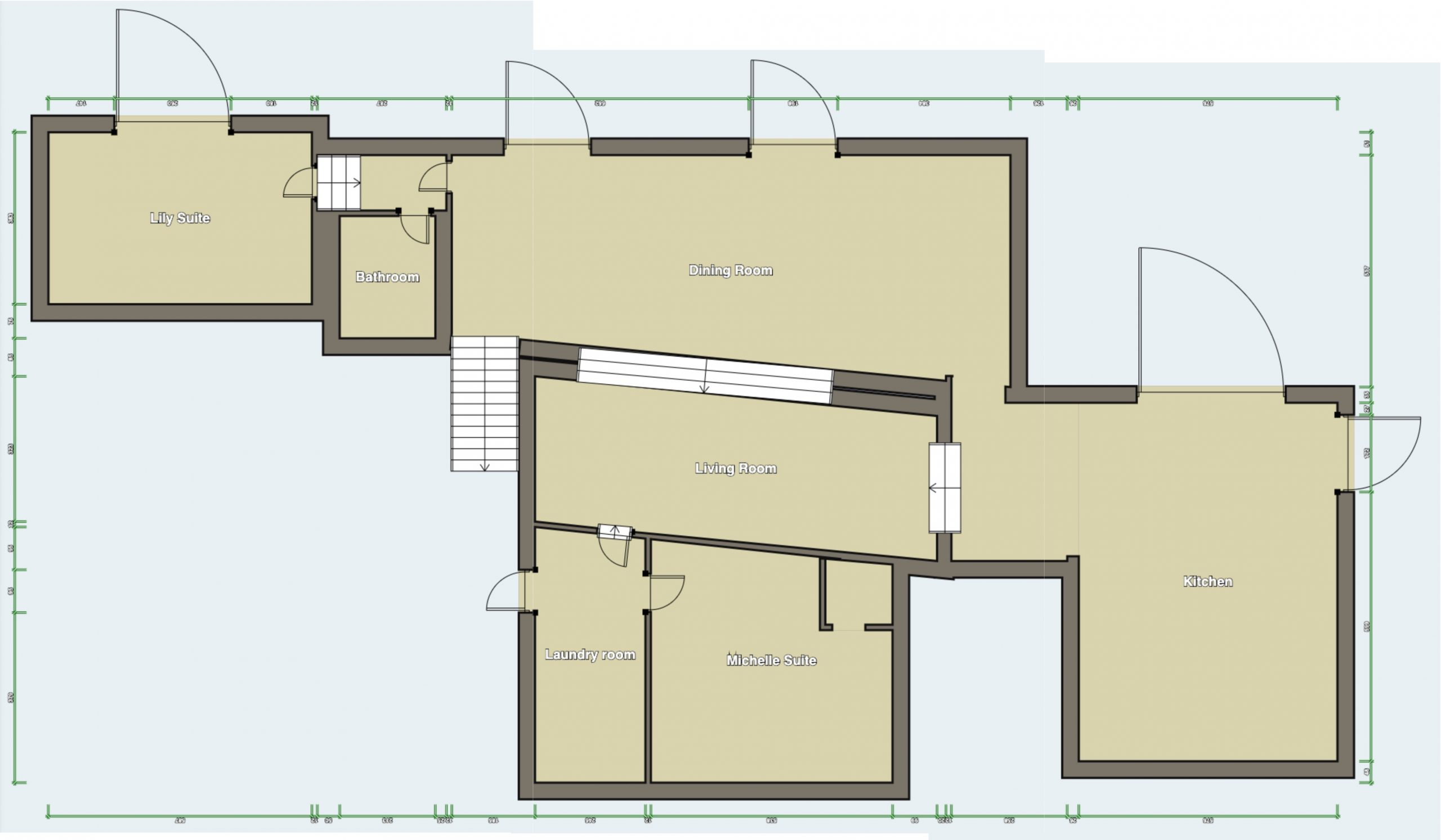 Floor Plan - Ground Floor of main villa