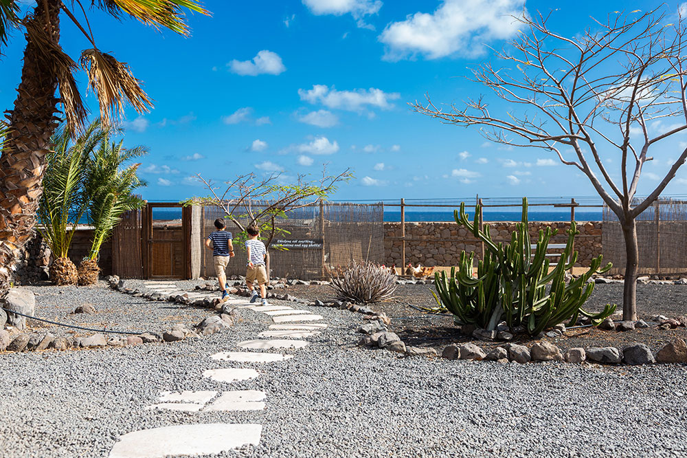 Finca path towards beach